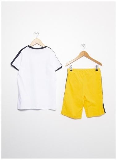 Limon Limon Bisiklet Yaka Beyaz Pijama Takımı Beyaz